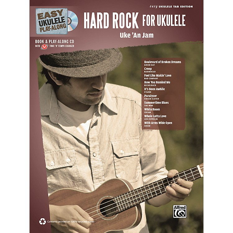 Alfred Easy Ukulele Play-Along Hard Rock for Ukulele Book & CD