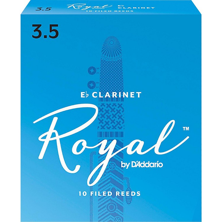 Rico Royal Eb Clarinet Reeds, Box of 10 Strength 3.5
