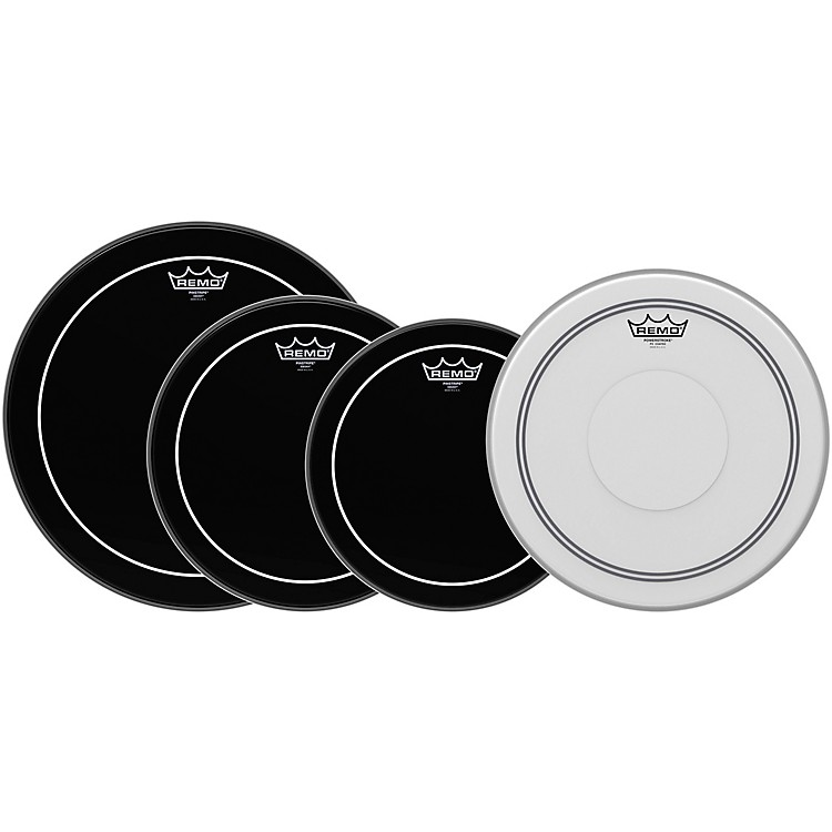 RemoEbony Pinstripe Standard Pro Pack with Free 14 in. Coated Pinstripe Snare Drum Head