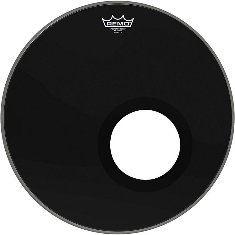 RemoEbony Powerstroke 3 Resonant Bass Drumhead with 5 Inch Port HoleEbony18 in.
