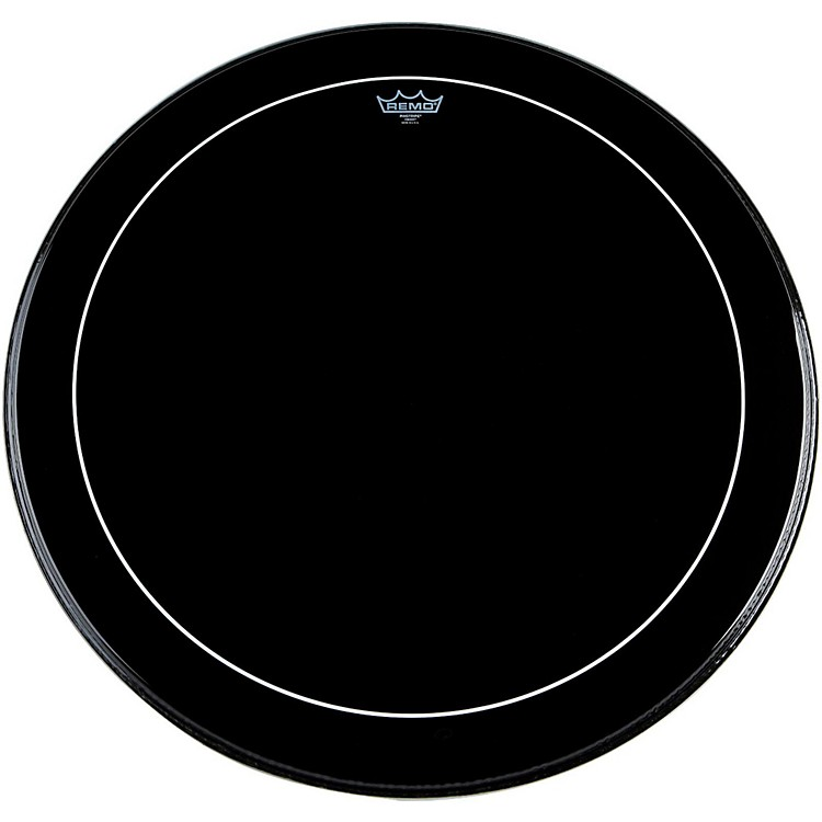 Remo Ebony Series Pinstripe Bass Drumhead  22 in.