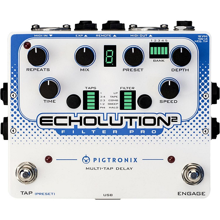 Pigtronix Echolution 2 Filter Pro Delay Guitar Pedal