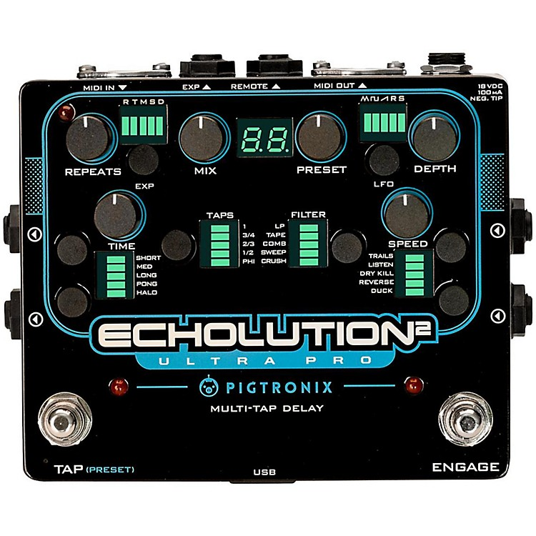 Pigtronix Echolution 2 Ultra Pro Guitar Pedal