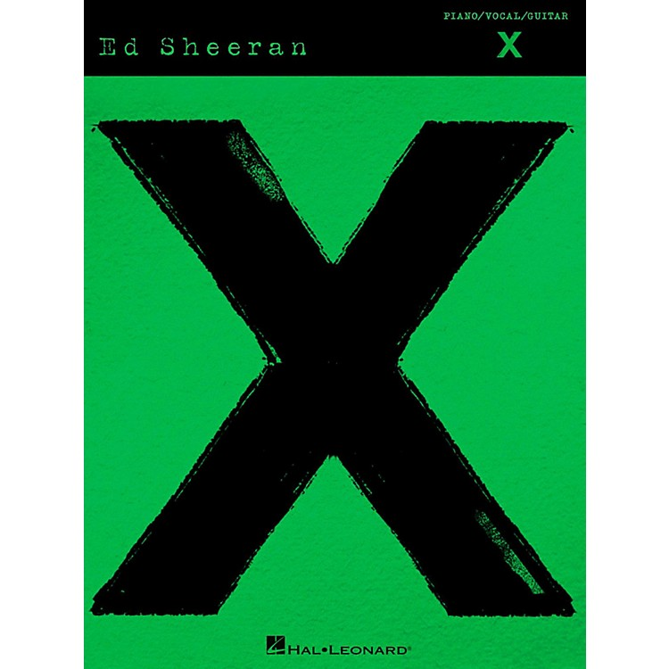 Hal Leonard Ed Sheeran - X Piano/Vocal/Guitar