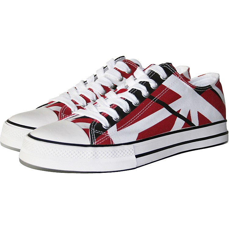 EVH Eddie Van Halen Low Top Sneakers - Red, Black, and White Striped