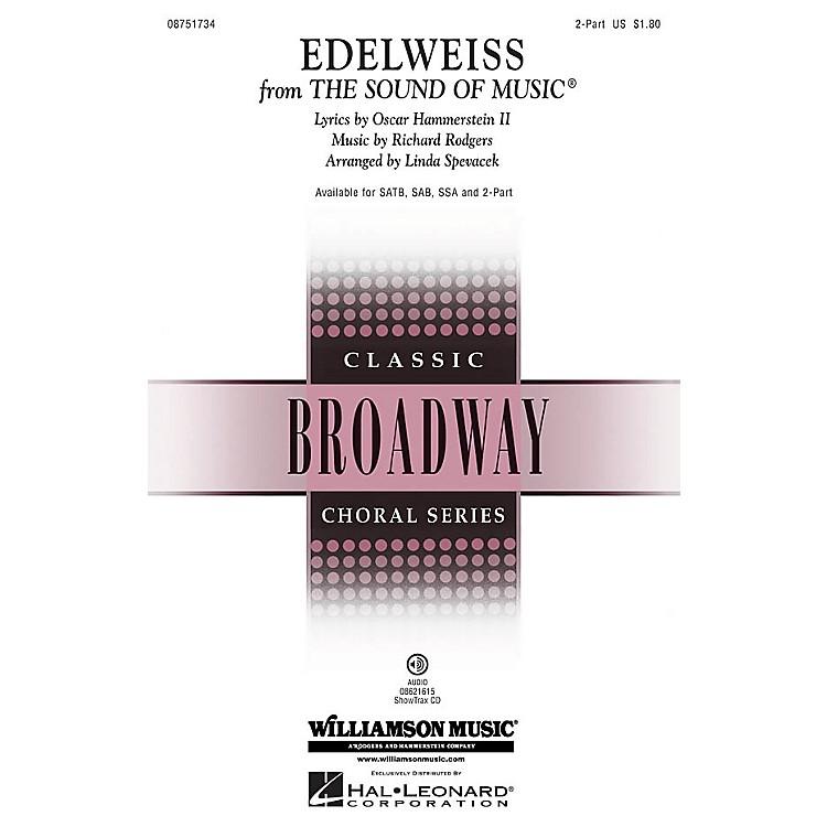 Hal LeonardEdelweiss (from The Sound of Music) 2-Part arranged by Linda Spevacek