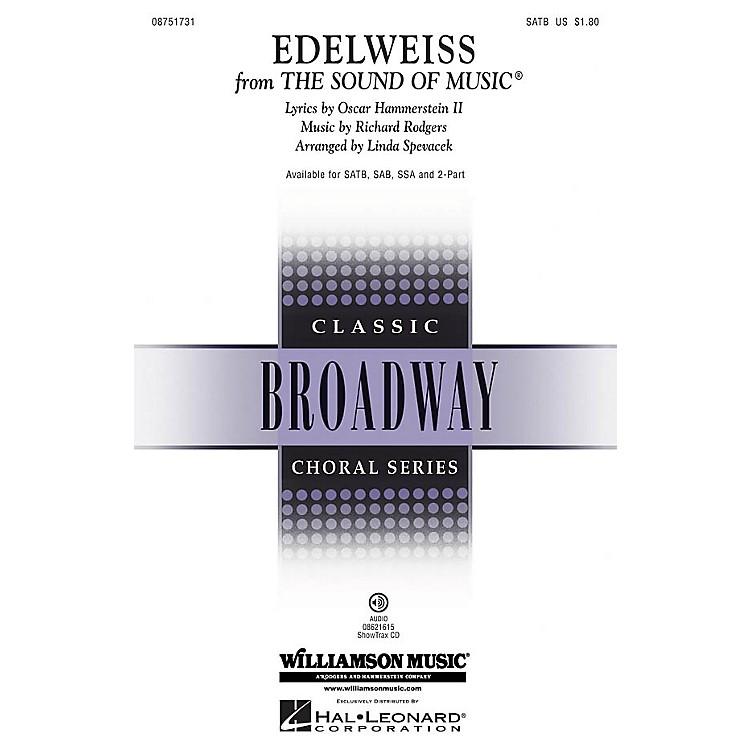 Hal LeonardEdelweiss (from The Sound of Music) SATB arranged by Linda Spevacek