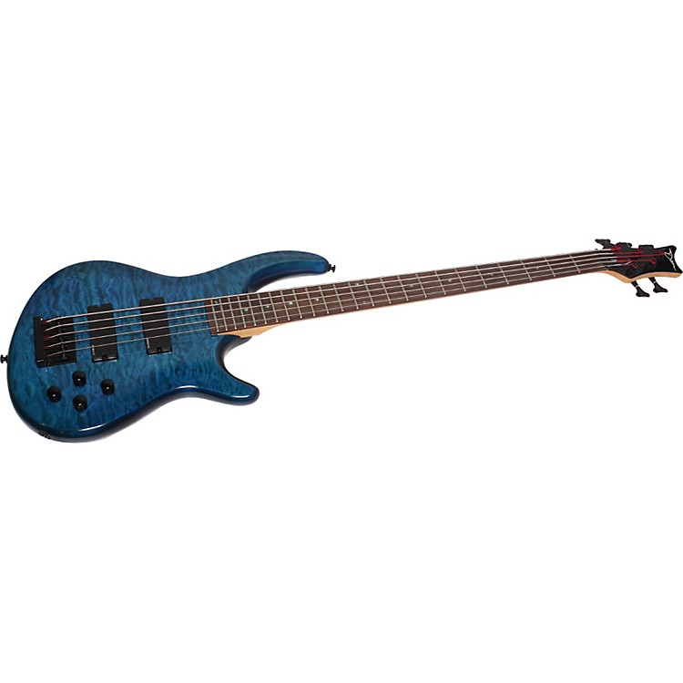 Dean Edge Q5 Quilted 5-String Bass Blue