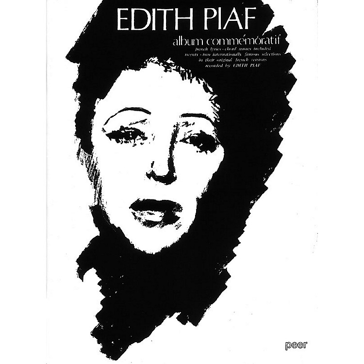 Hal Leonard Edith Piaf Album Commemor Peer Music Series