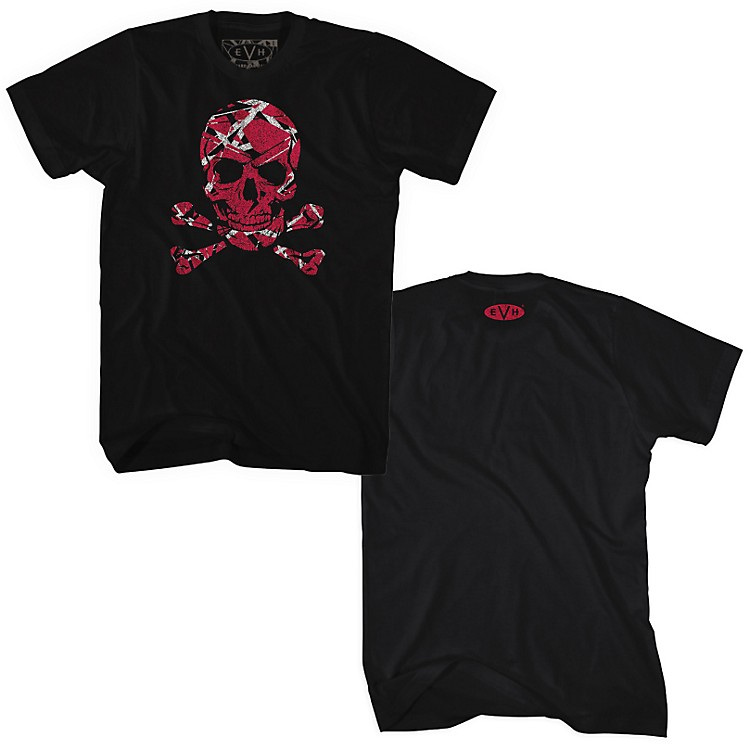 Fea MerchandisingEdward Van Halen - Stripe Skull T Shirt