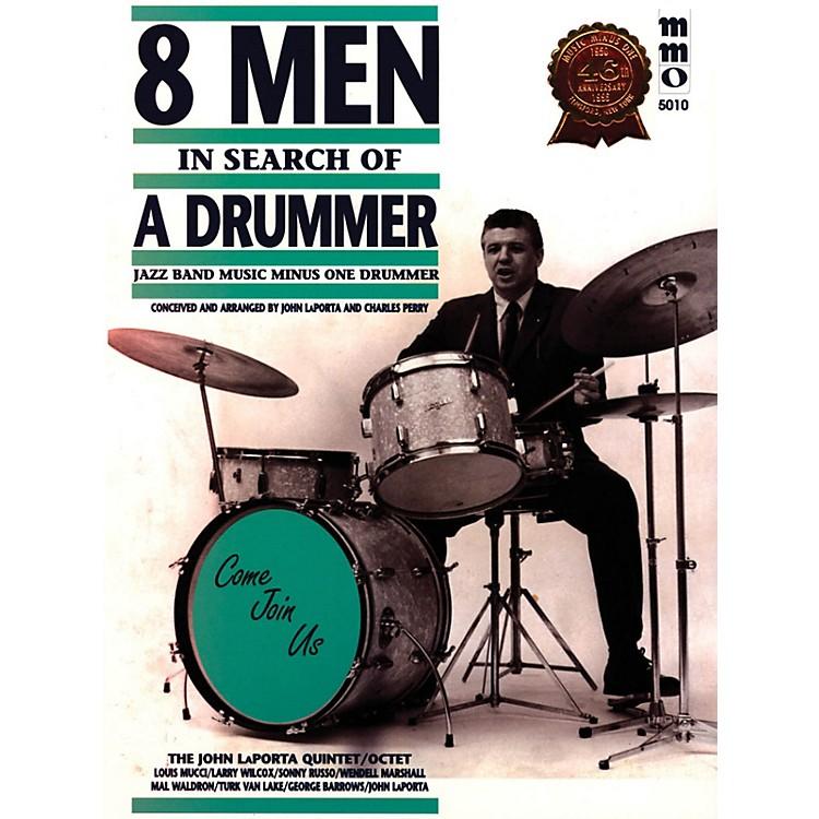 Music Minus OneEight Men in Search of a Drummer Music Minus One Series Softcover with CD