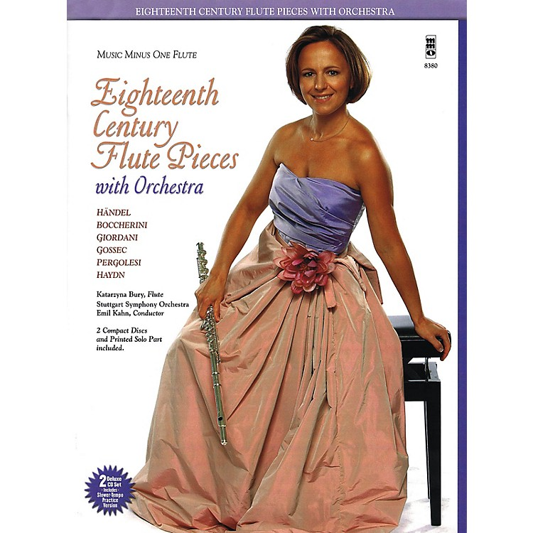 Music Minus OneEighteenth Century Flute Pieces with Orchestra Music Minus One Series Softcover with CD