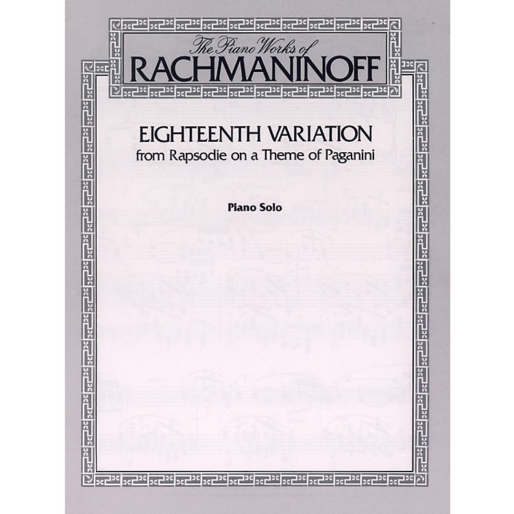 Alfred Eighteenth Variation (from Rhapsodie on a Theme of Paganini) Piano Solo Book