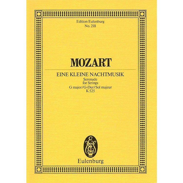 EulenburgEine kleine Nachtmusik, KV 525 Schott Composed by Wolfgang Amadeus Mozart Arranged by Dieter Rexroth