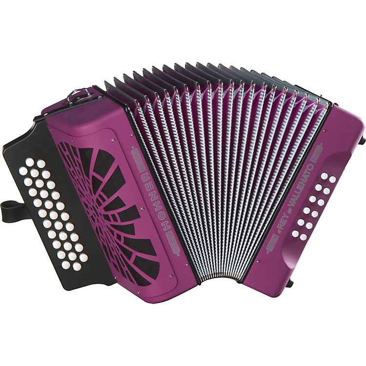 Hohner El Rey Del Vallenato GCF Accordion Violet