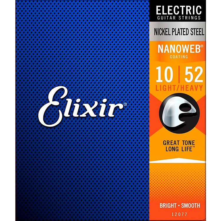 Elixir Electric Guitar Strings with NANOWEB Coating, Light/Heavy (.010-.052)