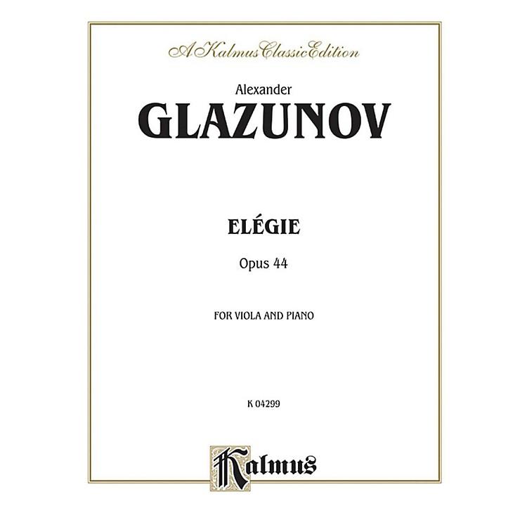 AlfredElegie for Viola Op. 44 for Viola By Alexander Glazunov Book