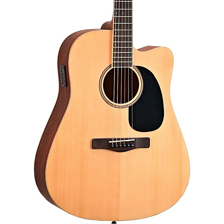 Mitchell Element Series ME1CE Dreadnought Cutaway Acoustic-Electric Guitar Natural Striped Sapele, Solid Spruce Top