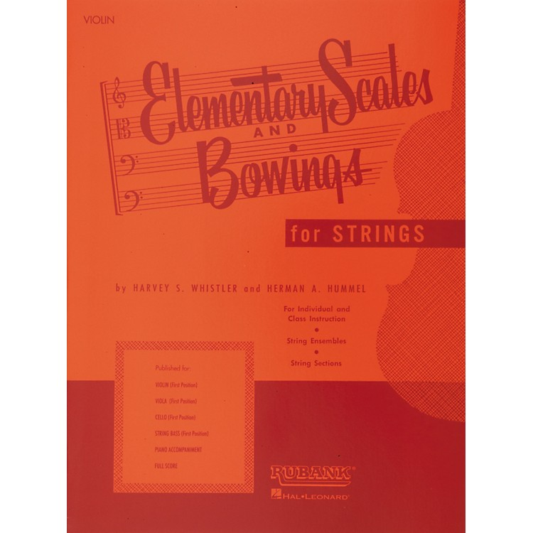 Hal LeonardElementary Scales And Bowings for Strings for Violin