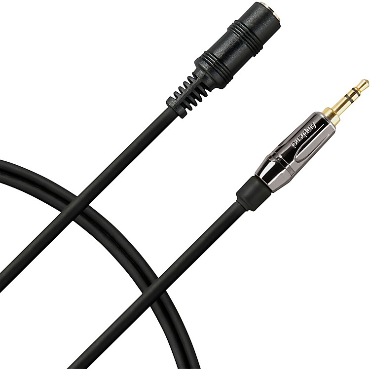 Livewire Elite Headphone Extension Cable 3.5mm TRS Male to 3.5mm TRS Female 25 ft. Black