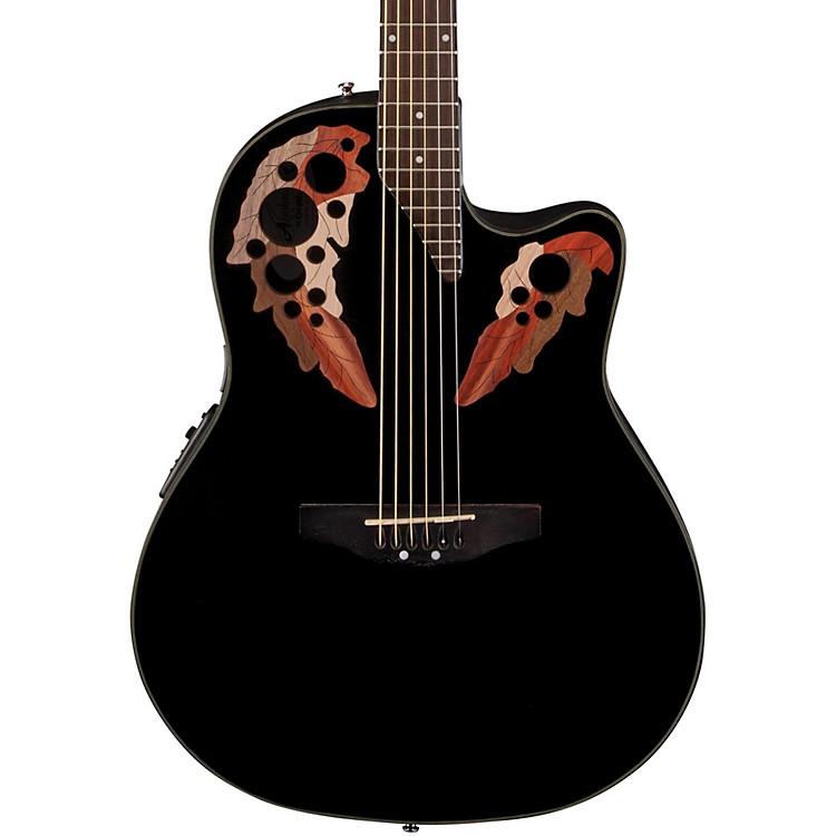 ApplauseElite Mid-Depth Bowl Acoustic-Electric GuitarBlack