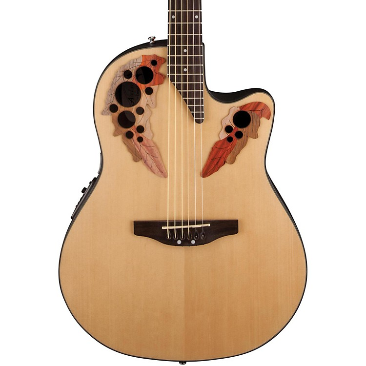 Applause Elite Mid-Depth Bowl Acoustic-Electric Guitar Natural