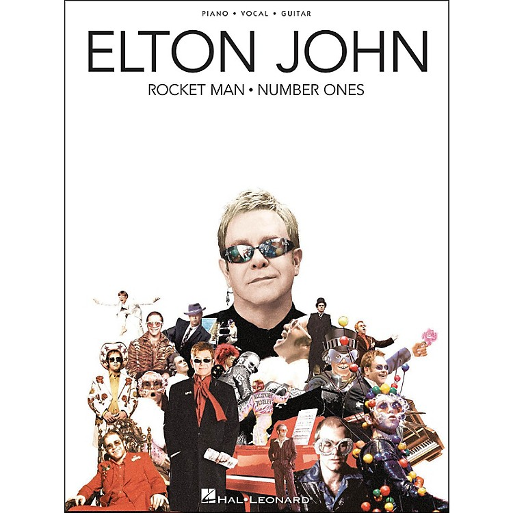 Hal Leonard Elton John Rocket Man Number Ones arranged for piano, vocal, and guitar (P/V/G)