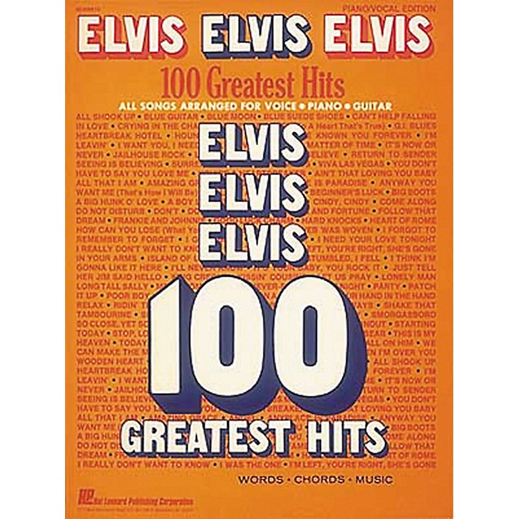 Hal LeonardElvis Elvis Elvis 100 Greatest Hits Piano, Vocal, Guitar Songbook
