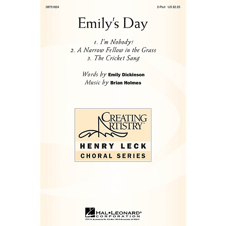 Hal LeonardEmily's Day (Choral Collection) 2-Part composed by Brian Holmes