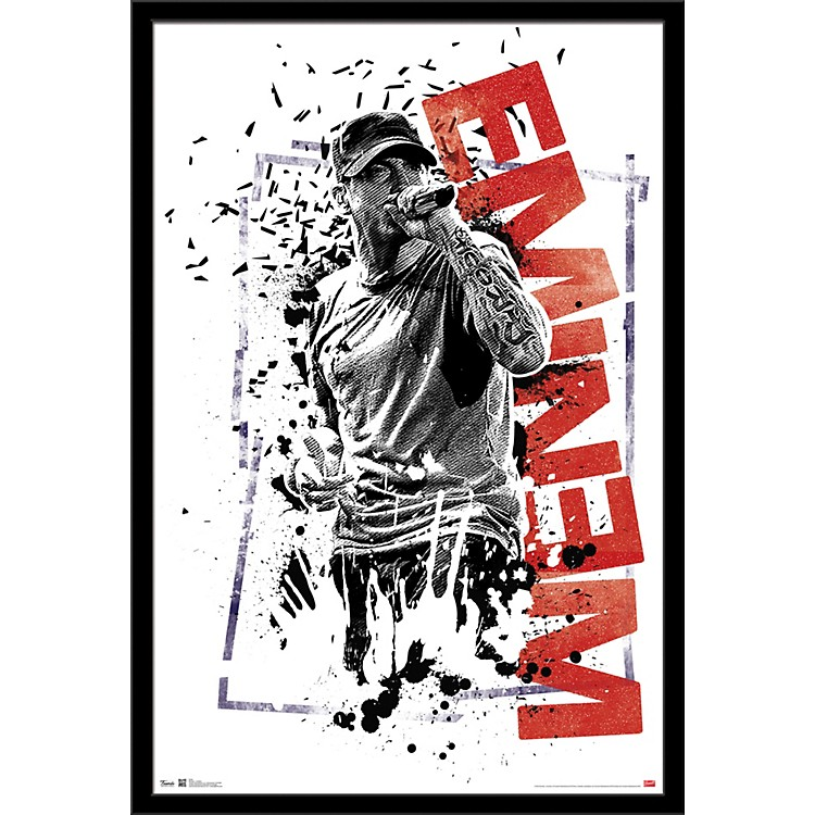Trends International Eminem - Crumble Poster Framed Black