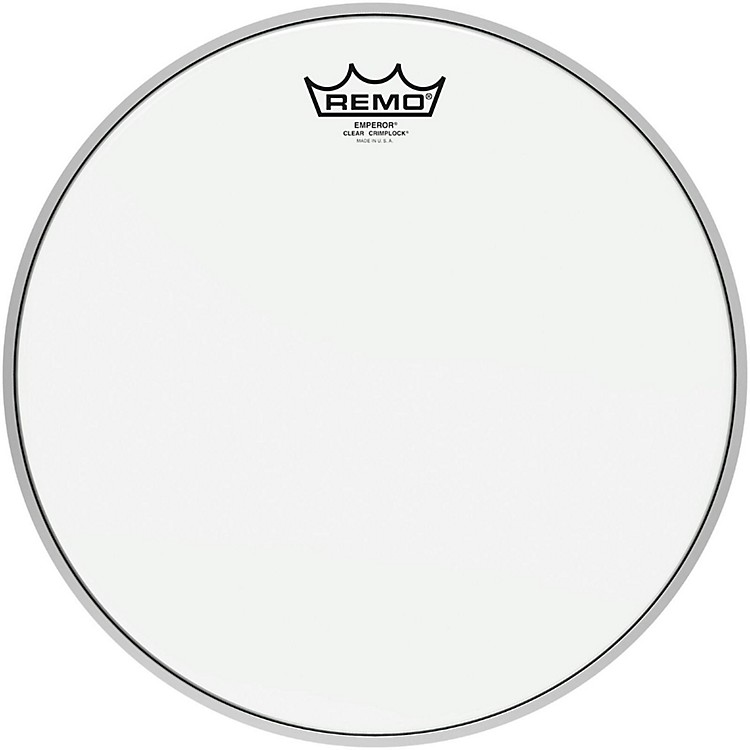 Remo Emperor Clear Crimplock Tenor Drumhead 14 in.