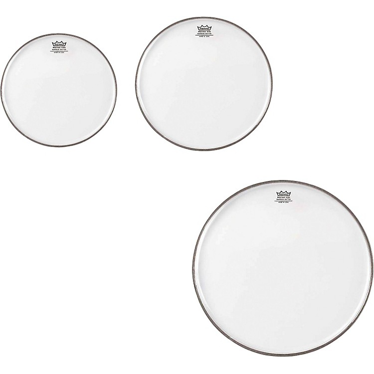 RemoEmperor Clear Tom Drumhead Pack, New Fusion