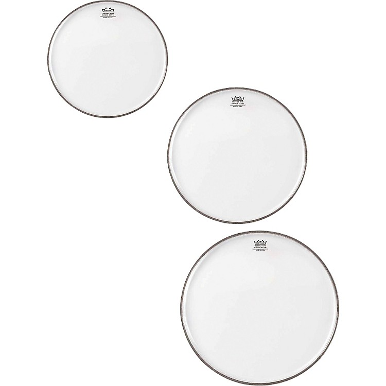 Remo Emperor Clear Tom Rock Drumhead Pack