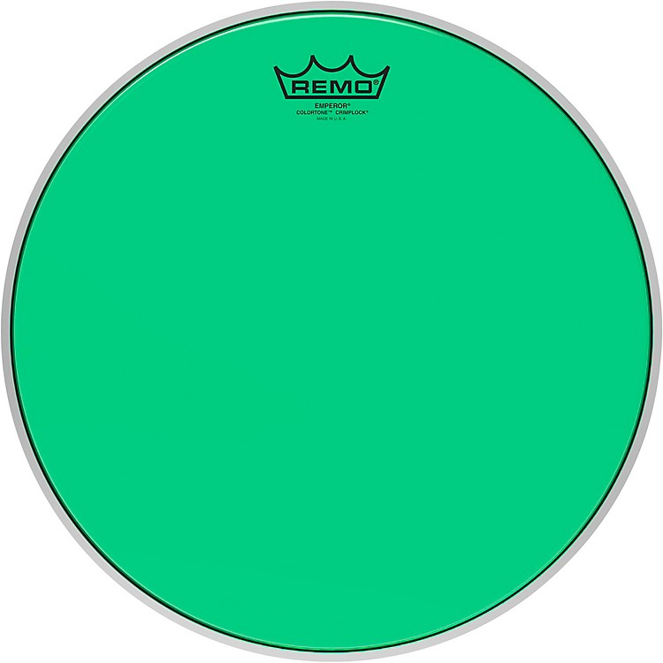 Remo Emperor Colortone Crimplock Green Tenor Drum Head 14 in.
