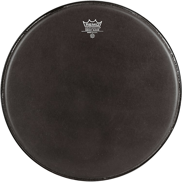 Remo Emperor Ebony Suede Marching Bass Drumhead Black Suede 14