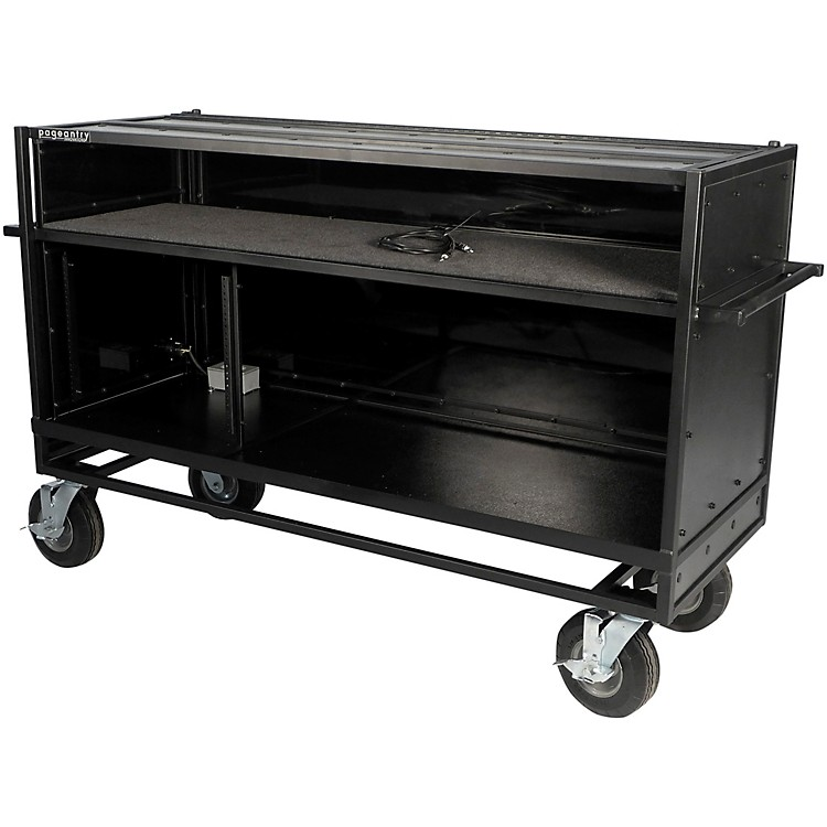 Pageantry Innovations Enclosed Synth Cart Stealth Series Upgrade w/ Bi-Fold Top Cover