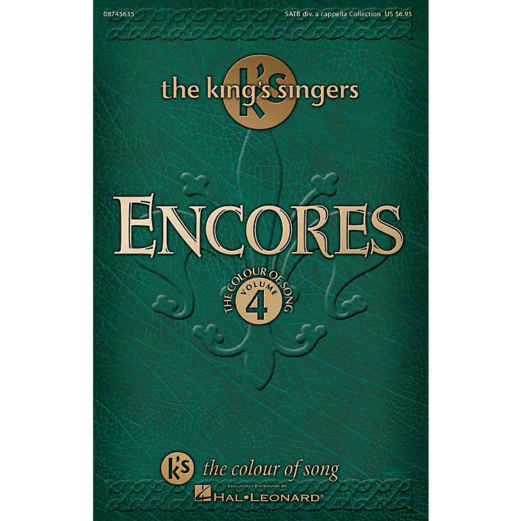 Hal Leonard Encores - The King's Singers Colour of Song, Volume 4 SATB DV A Cappella by The King's Singers