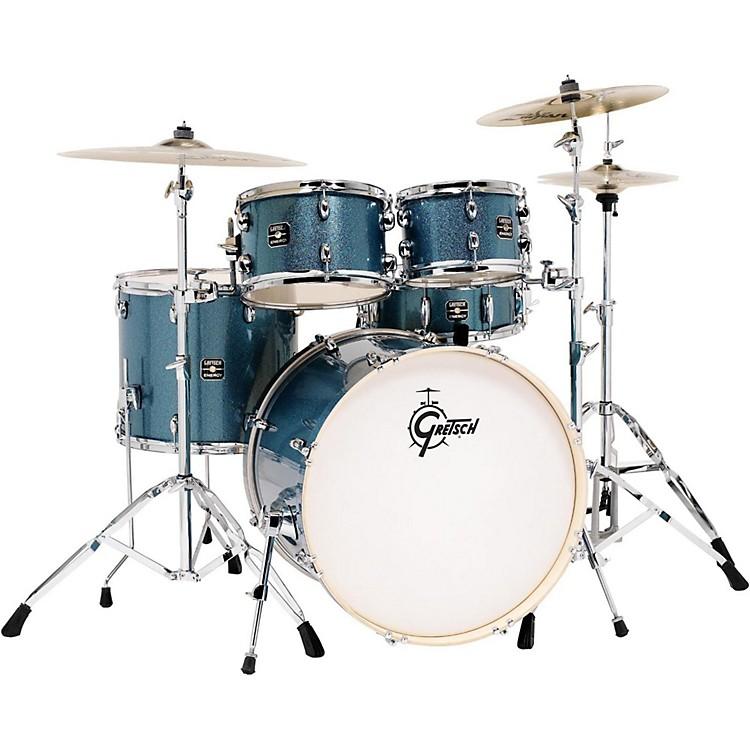 Gretsch DrumsEnergy 5-Piece Drum Set Blue Sparkle with Hardware and Zildjian Cymbals