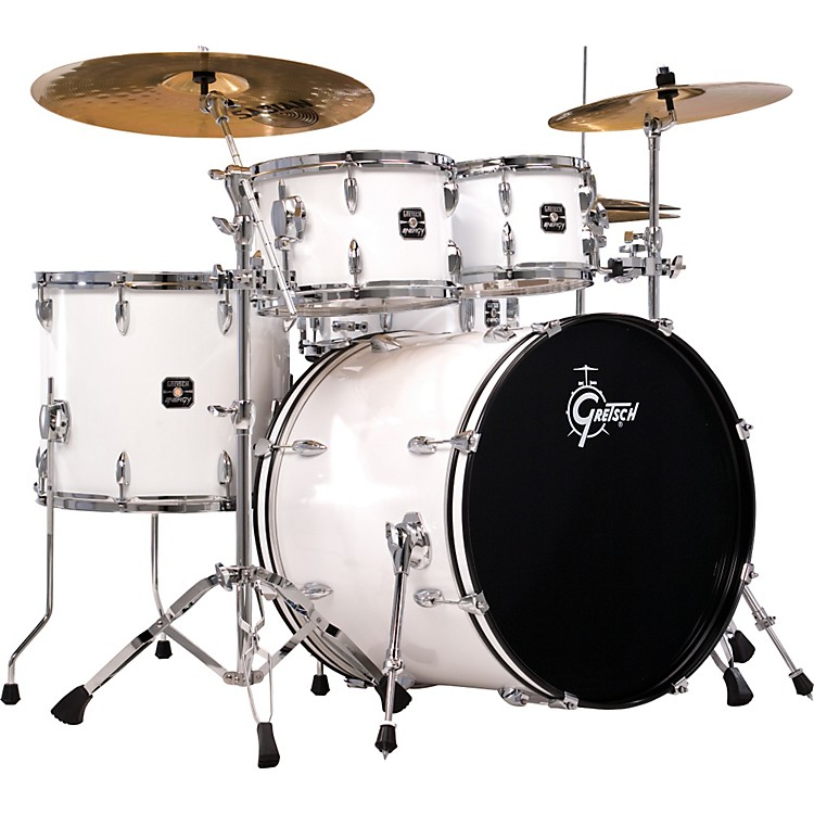 gretsch drums energy 5 piece drum set with hardware and sabian sbr cymbals music123. Black Bedroom Furniture Sets. Home Design Ideas