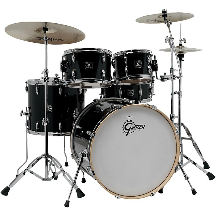 Gretsch Drums Energy VB 5-Piece Drum Set with Zildjian Cymbals Gray