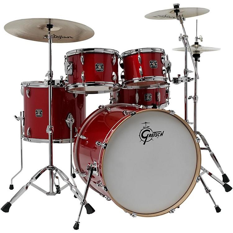 Gretsch DrumsEnergy VB 5-Piece Drum Set with Zildjian CymbalsRed