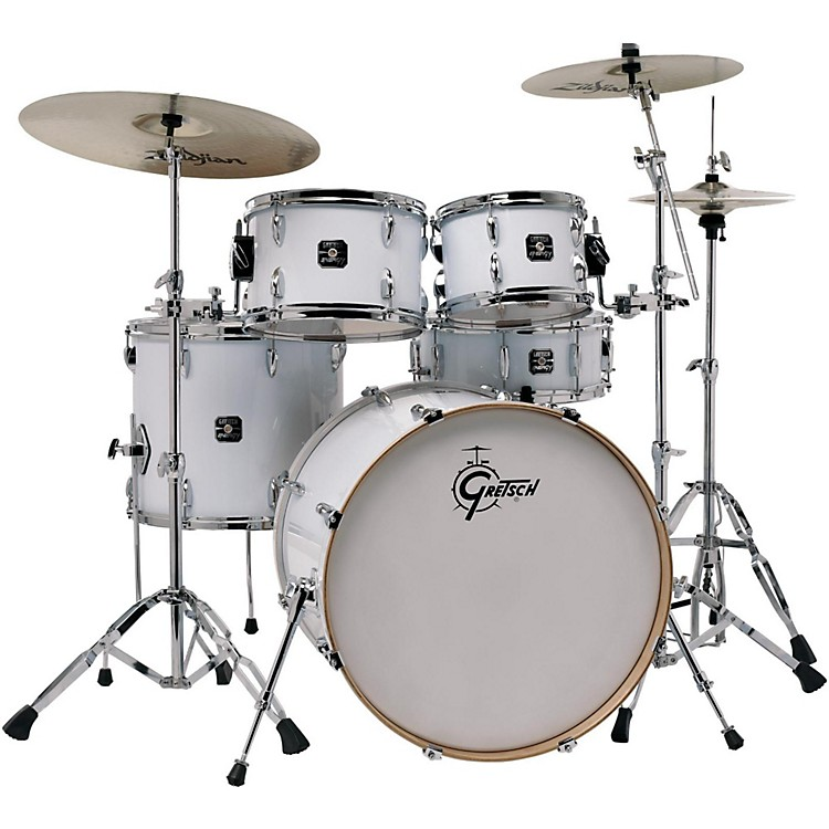 Gretsch Drums Energy VB 5-Piece Drum Set with Zildjian Cymbals White