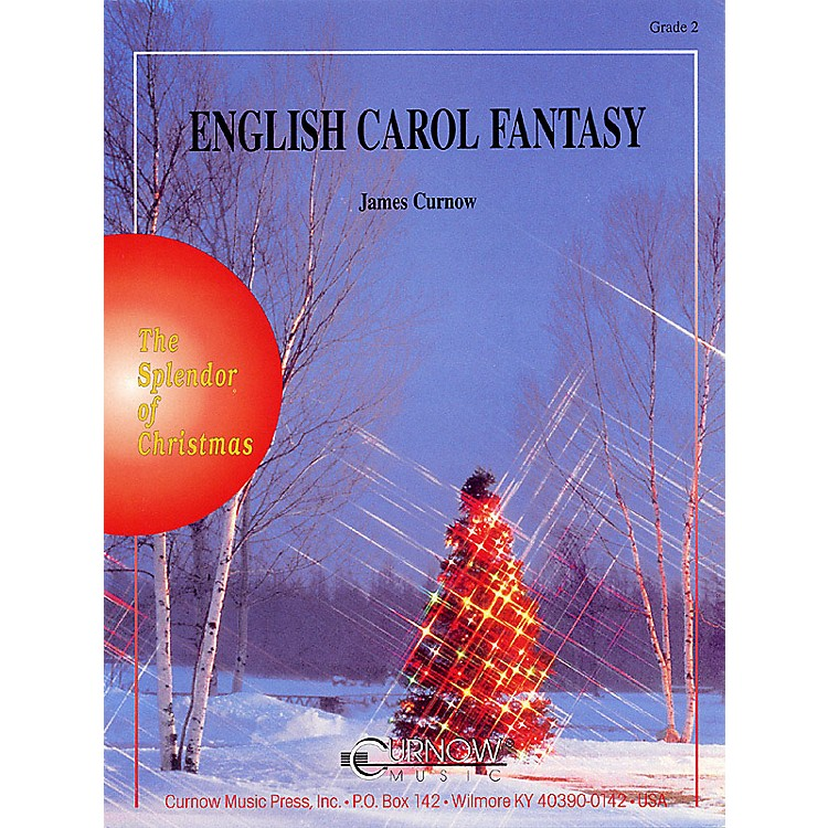 Curnow Music English Carol Fantasy (Grade 2 - Score Only) Concert Band Level 2 Composed by James Curnow