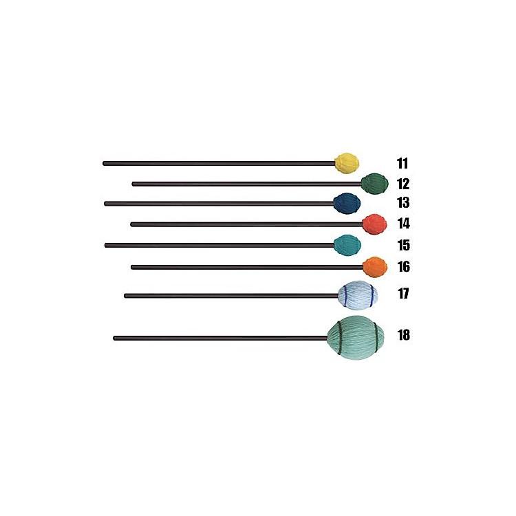Mike BalterEnsemble Series Black Birch Marimba Mallets16 Orange Yarn, Extra Soft
