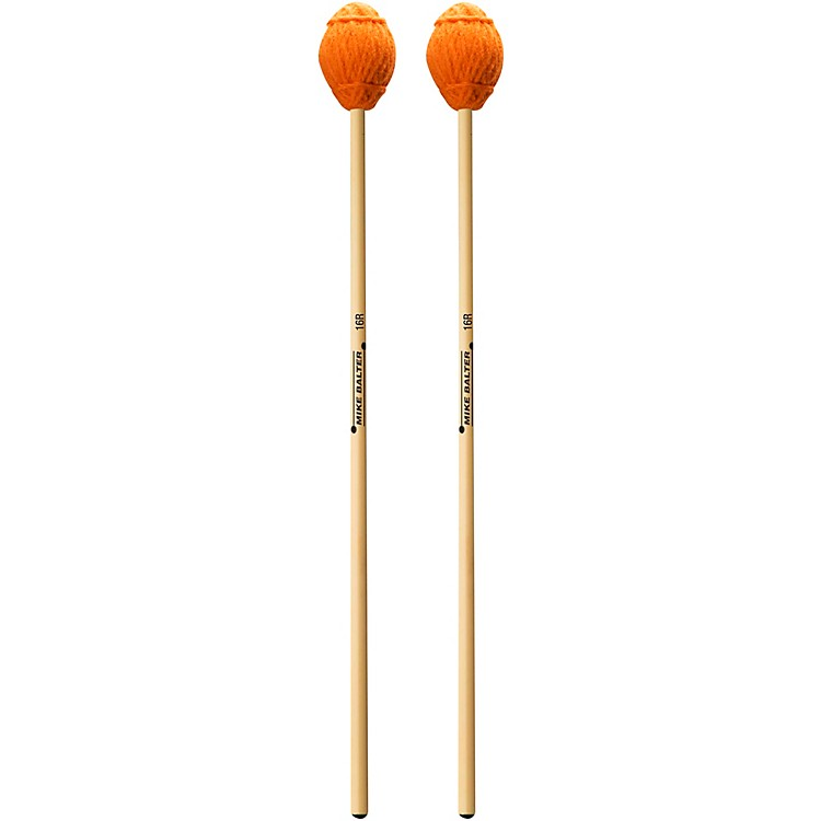 Mike BalterEnsemble Series Rattan Marimba Mallets16 Orange Yarn, Extra Soft