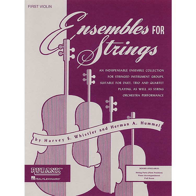 Rubank Publications Ensembles For Strings - Third Violin Ensemble Collection Series Arranged by Harvey S. Whistler