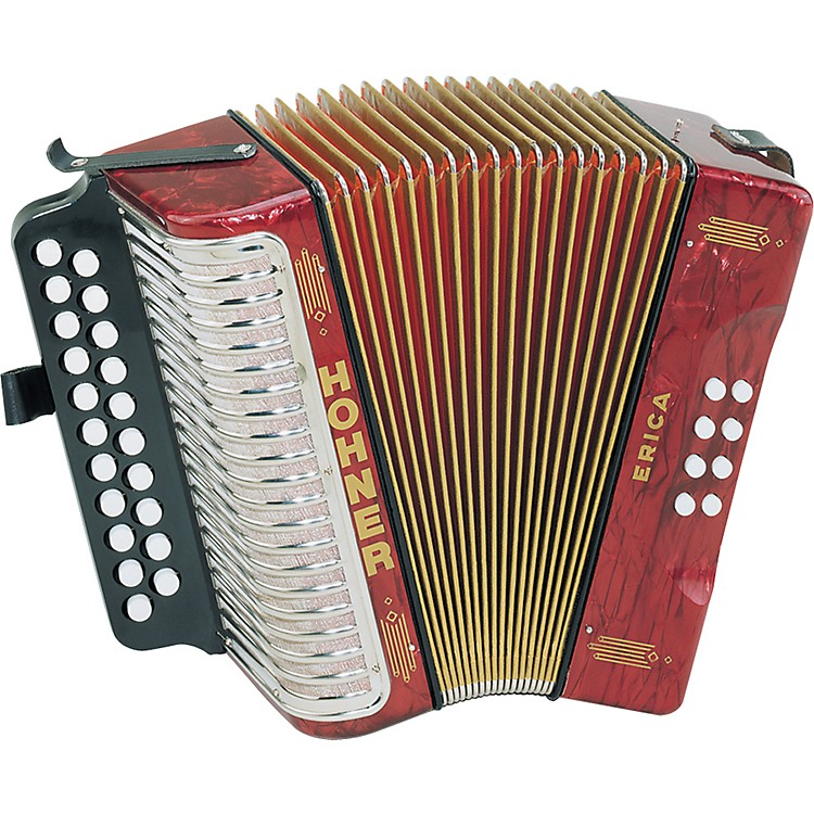 Hohner Erica Two-Row Accordion AD Pearl Red