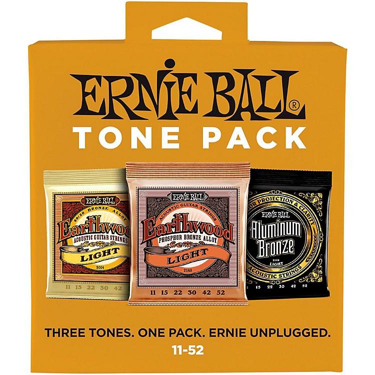 Ernie BallErnie Ball Light Acoustic Guitar String Tone Pack
