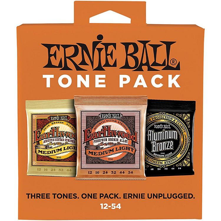 Ernie BallErnie Ball Medium Light Acoustic Guitar String Tone Pack