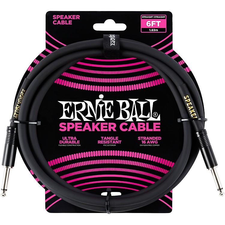 Ernie BallErnie Ball Speaker Cable Black Straight/Straight6 ft.Black